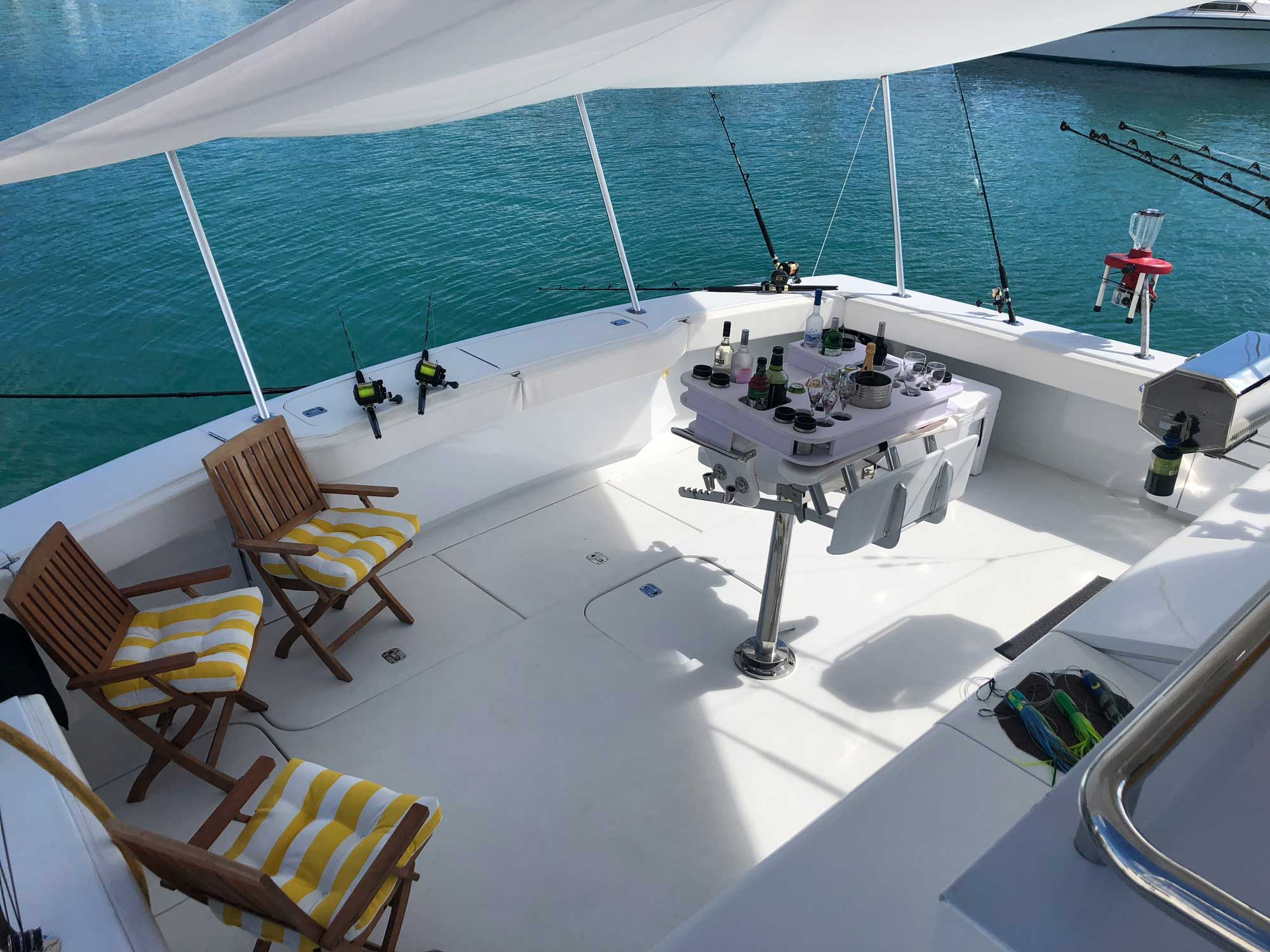 Relax or fish aboard OneNet's spacious decks.